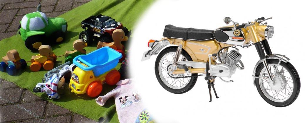Zondag 14 augustus met bromfietsen-, motoren en kindermarkt